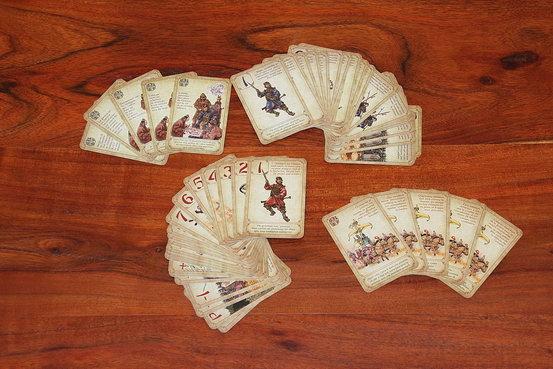 Les cartes du jeu de plateau Sun Tzu
