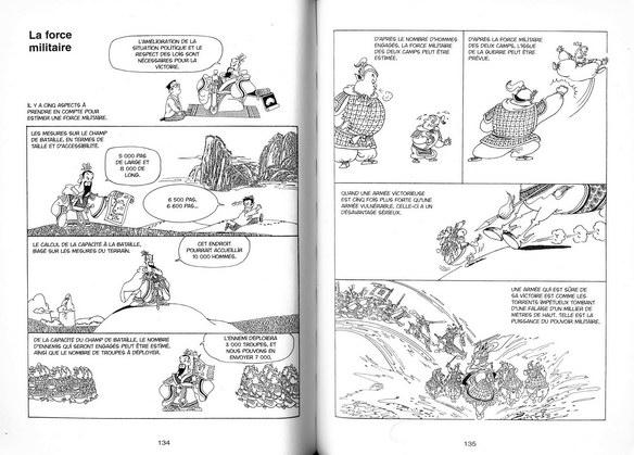 L'art de la guerre en BD<, pages 134 et 135