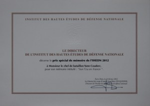 Prix scientifique de l'IHEDN