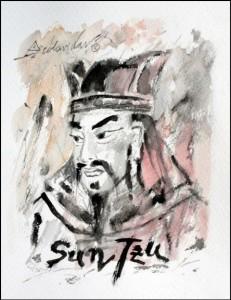 Une peinture moderne de Sun Tzu par Onésimo Colavidas