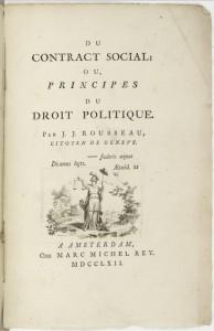 La première grande réflexion française sur le sujet : le Du contrat social de Rousseau